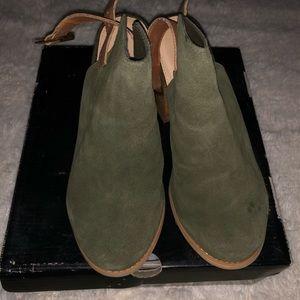 Olive booties